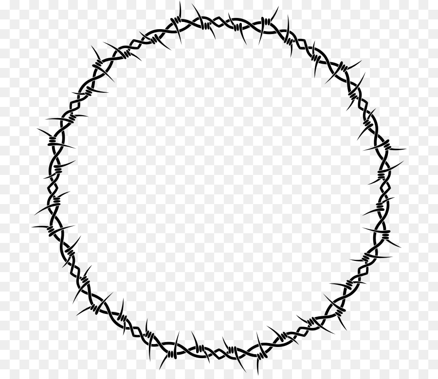 Barbed Wire Circle Clipart.