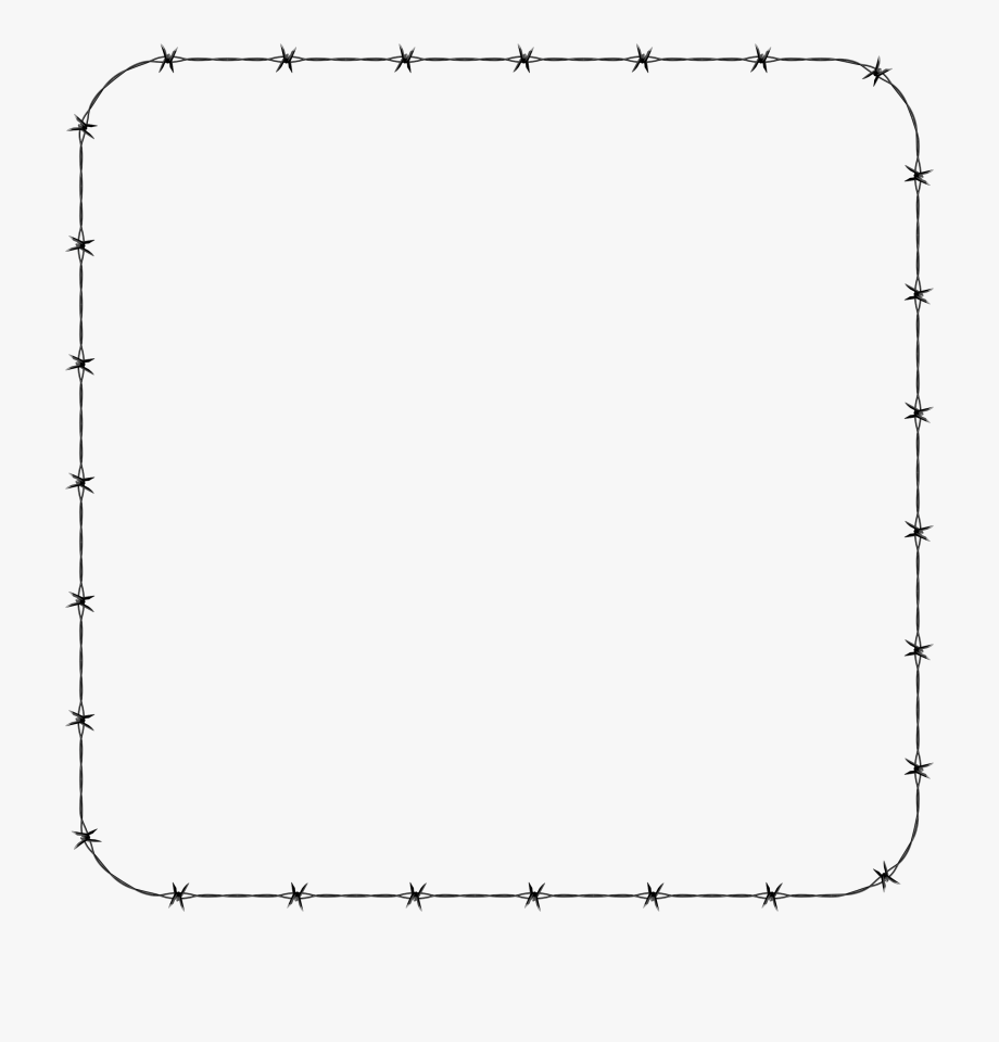 Greek Key Round Border Clipart Barbed Wire Rounded.