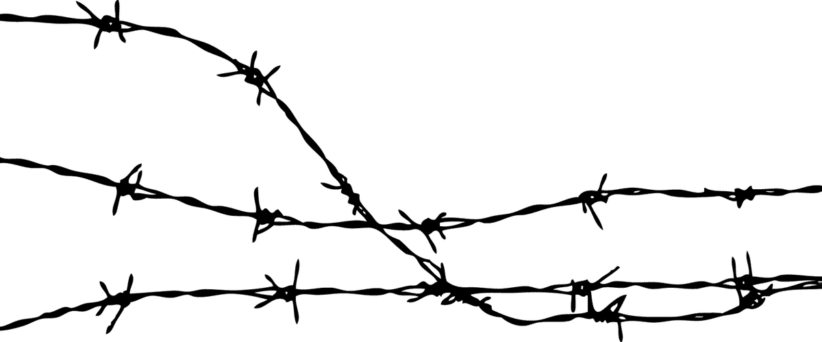 Barbed Wire Clipart transparent PNG.