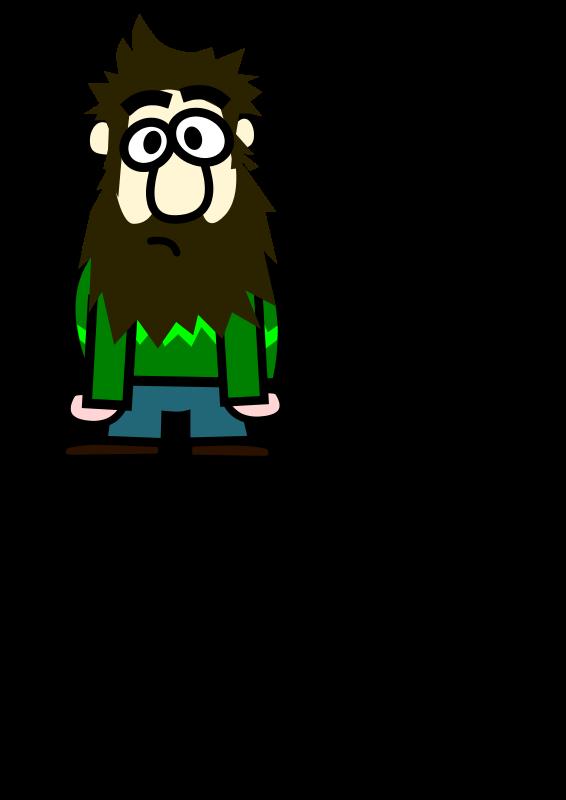 Free Clipart: Señor con barba.