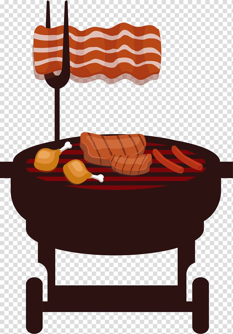 Barbecue grill Barbacoa Churrasco Beefsteak Illustration, Self.