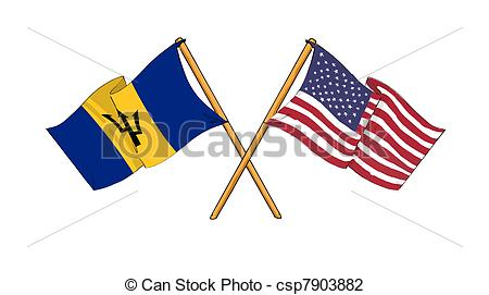 Clip Art of America and Barbados.