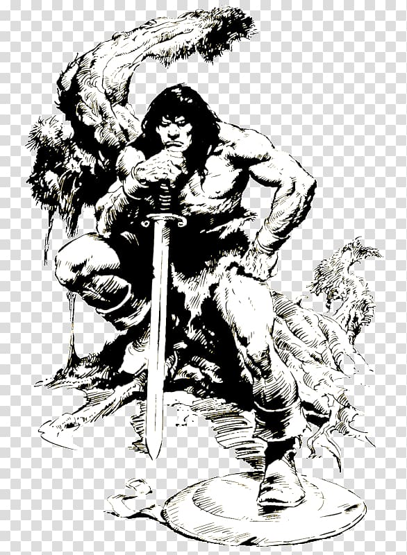 Conan the Barbarian Drawing Artist Comics, Conan transparent.