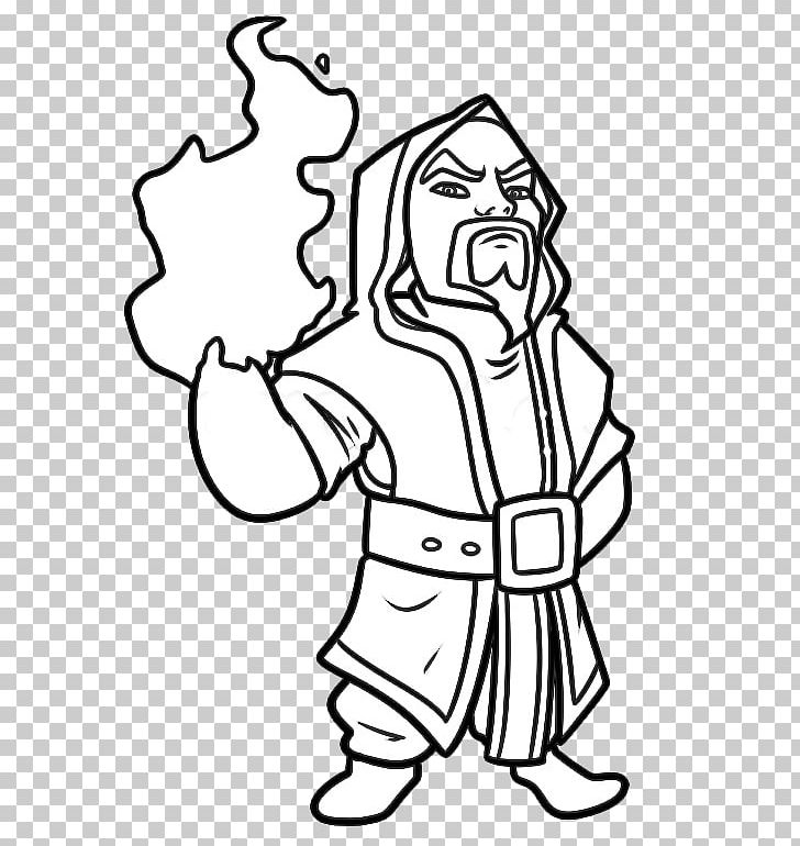 Clash Of Clans Drawing Magician Sketch PNG, Clipart, Arm.