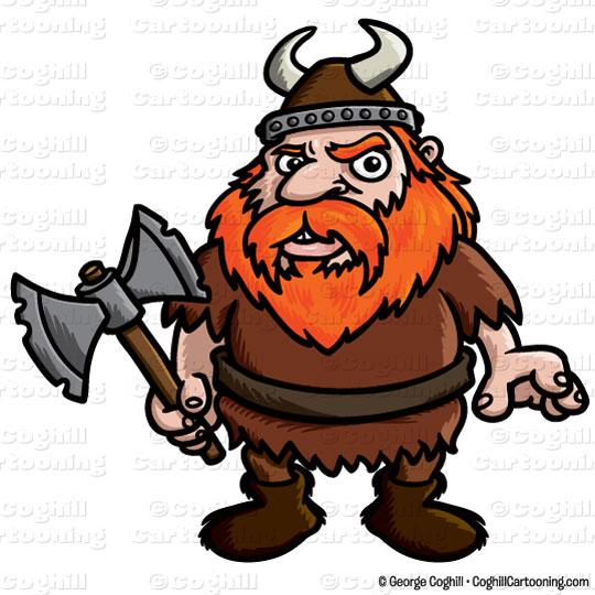 Cartoon Viking Clip Art Stock Illustration.