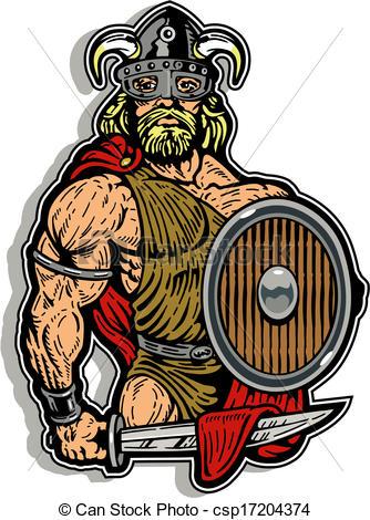 Vectors Illustration of barbarian warrior csp17204374.