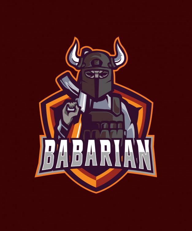 Barbarian e sports logo Vector.