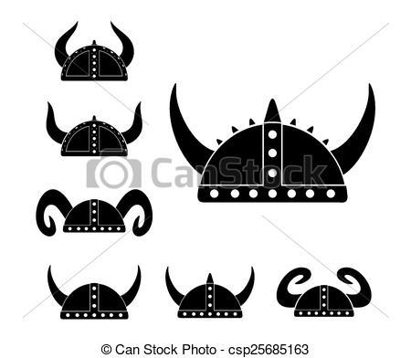 Clip Art Vector of barbarian helmet.