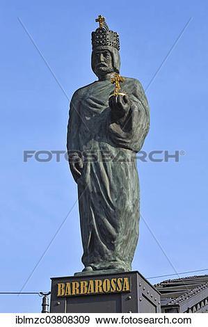 "Stock Photograph of ""Statue of Emperor Frederick Barbarossa, 1122."