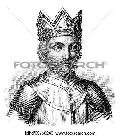 "Stock Photography of ""Portrait of Frederick I Barbarossa, 1122."