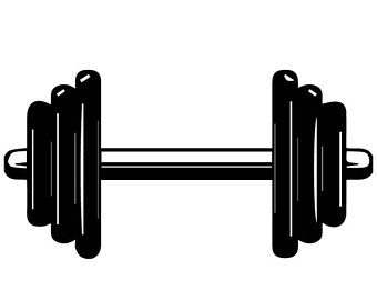 Barbell clipart exercise equipment, Barbell exercise.