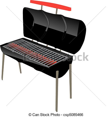 Clip Art Vector of bbq grill.