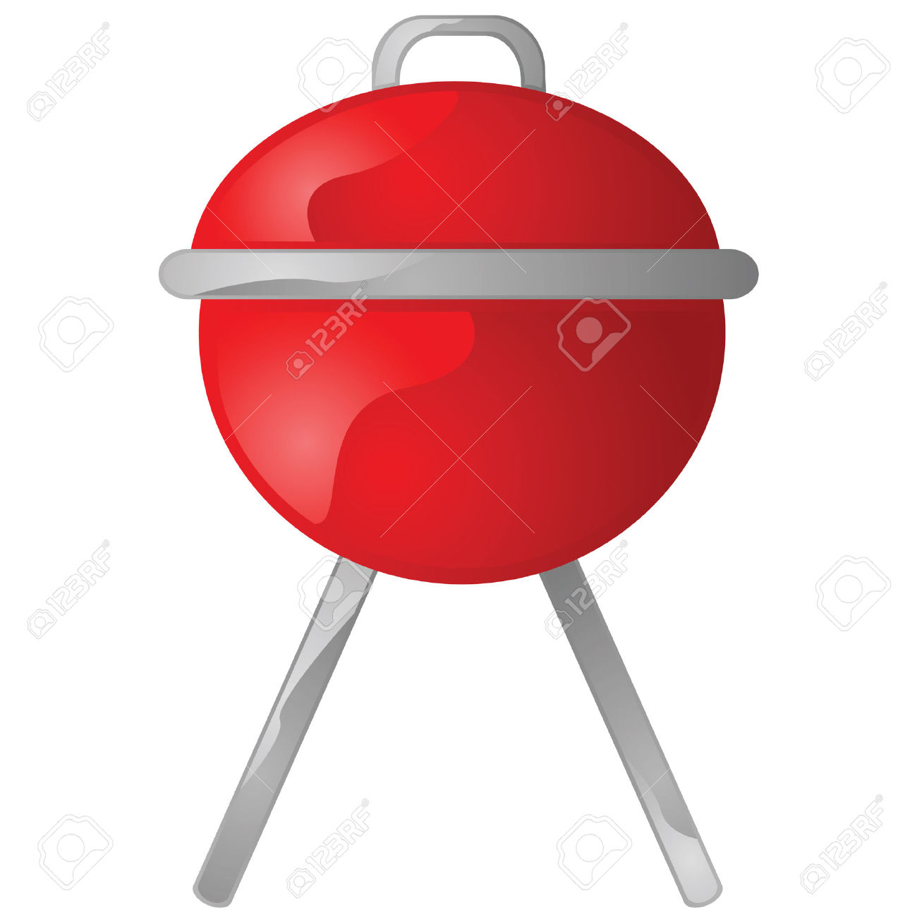 Red grill clipart.