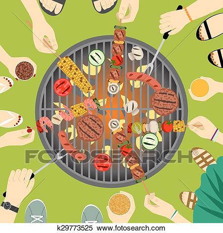 Barbeque party Clipart.