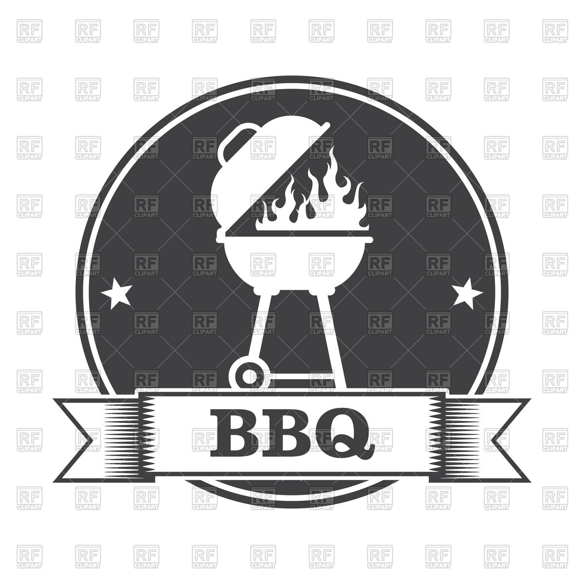 Barbecue (bbq) and grill party stamp Stock Vector Image.