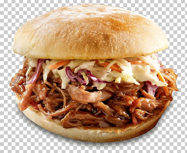 Pulled Pork Hamburger Barbecue Grill Coleslaw French Fries PNG.