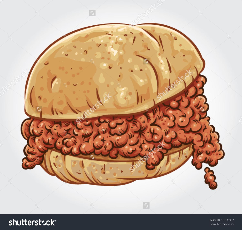 Sloppy joe sandwich clipart.