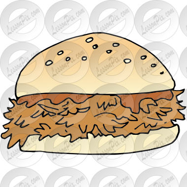 BBQ Sandwich Picture for Classroom / Therapy Use.