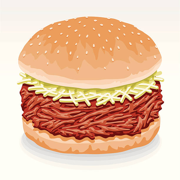 Pulled Pork Sandwich » Clipart Station.