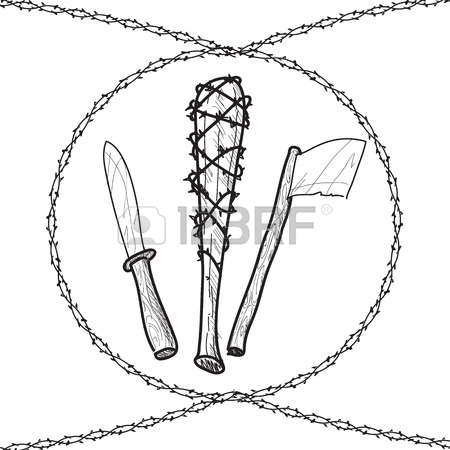 Barbed Wire Bat Clipart.