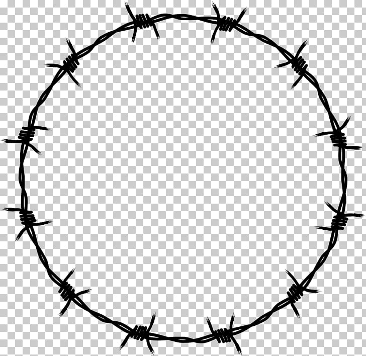 Barbed wire , barbwire, black barbwire wreath PNG clipart.