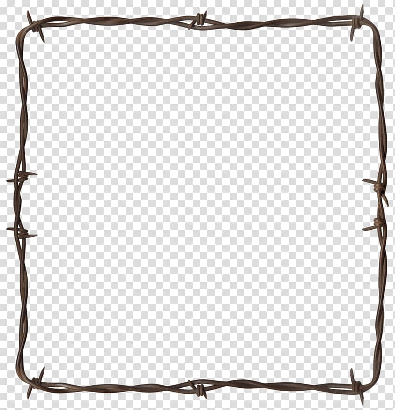 Barbed wire Frontier Wire Border, Barbwire transparent.