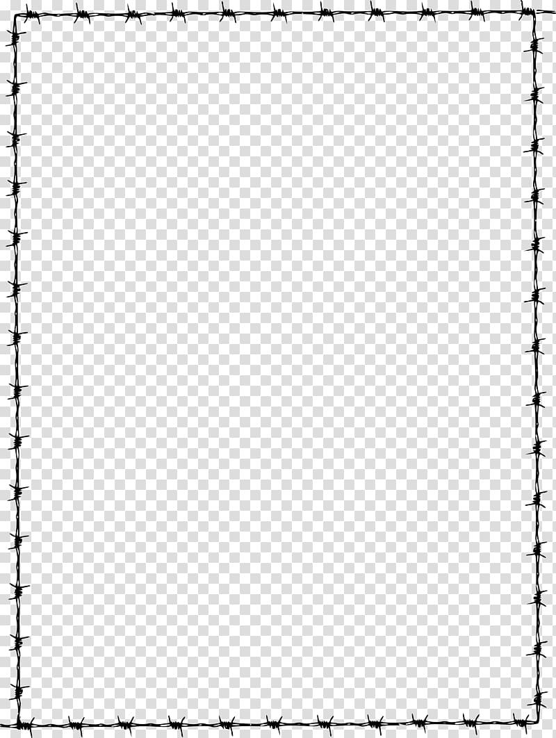 Barbed wire , page border transparent background PNG clipart.