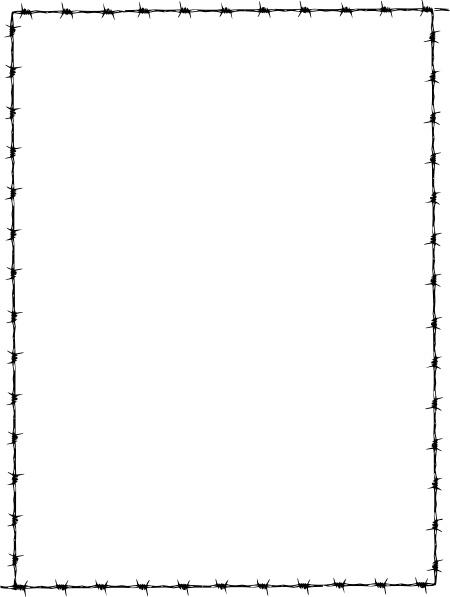 Revans Barbed Wire Border clip art Free vector in Open.