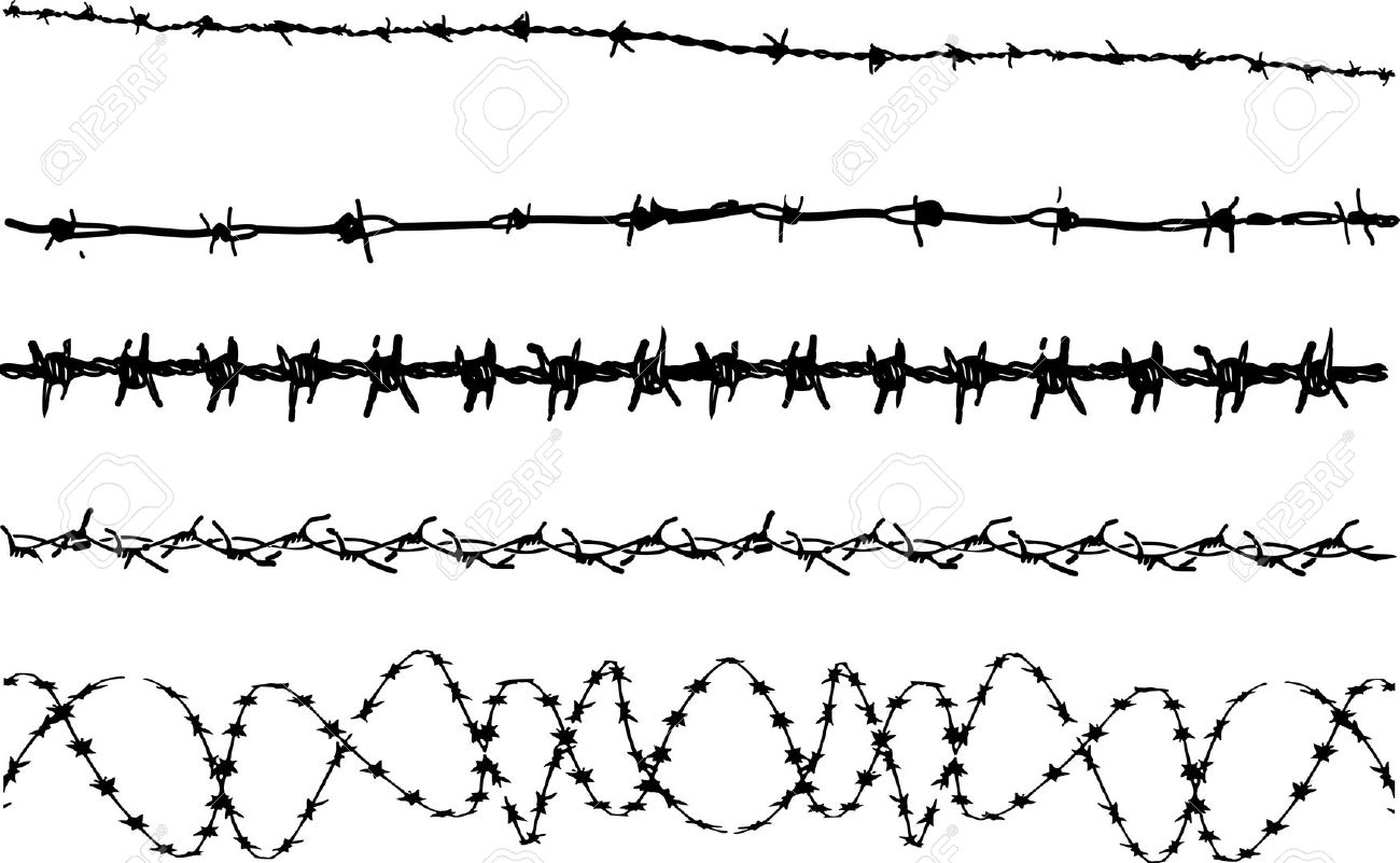 3,052 Barbed Wire Stock Illustrations, Cliparts And Royalty Free.