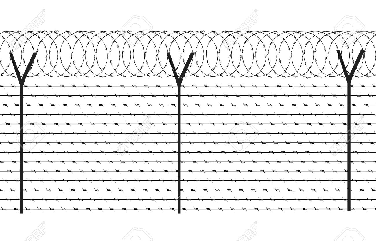 Barbed wire fence clipart - Clipground
