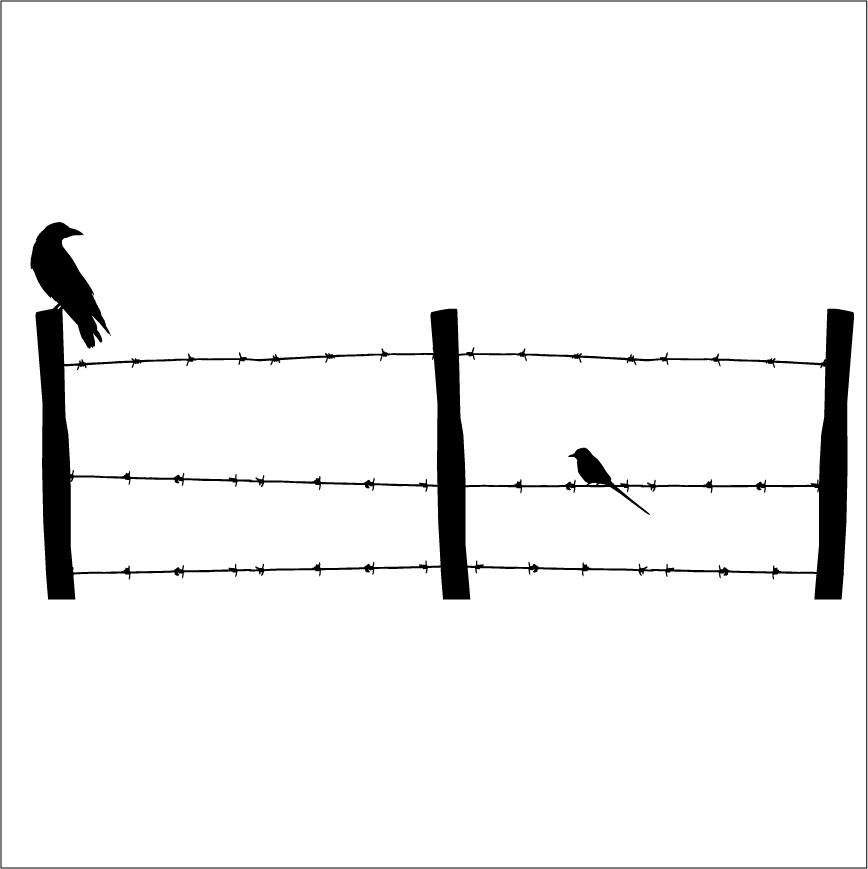 Barb wire fence clipart.