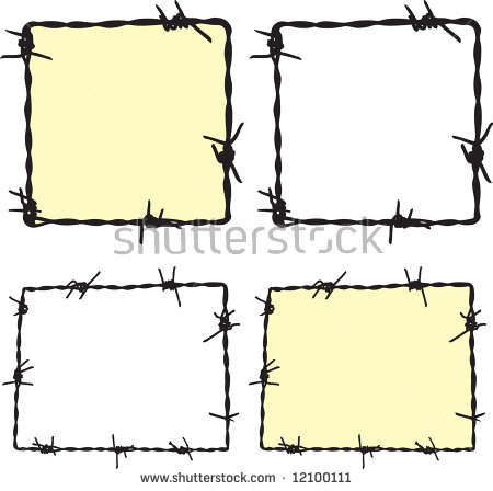 Barbwire Fence Stock Photos, Royalty.