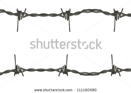 Barbed Wire Foto, immagini royalty.