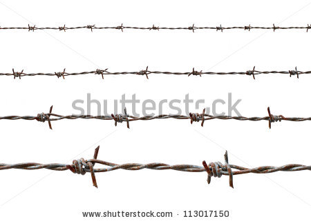Barbed Stock Photos, Royalty.