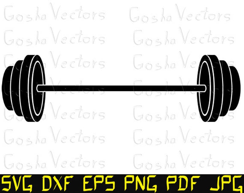Barbell Silhouette Vector at Vectorified.com.