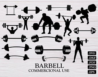 Barbell clipart.