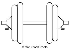 Outline Of Barbell Clipart.
