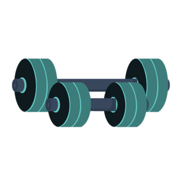 Green Barbells Clipart transparent PNG.