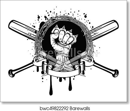 Knife bat knuckle_2 art print poster.
