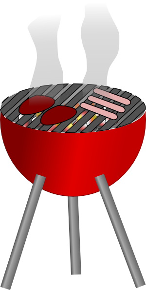 Clip art of barbeque grill.