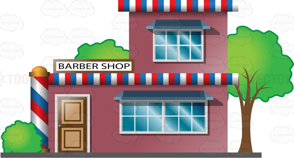 Cartoon barber shop clipart.