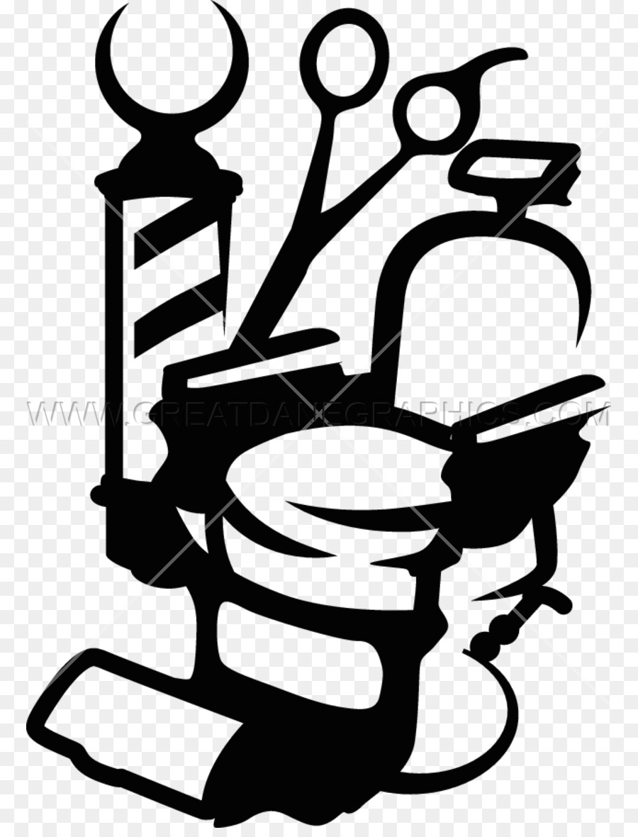 Barber Chair Line Art png download.