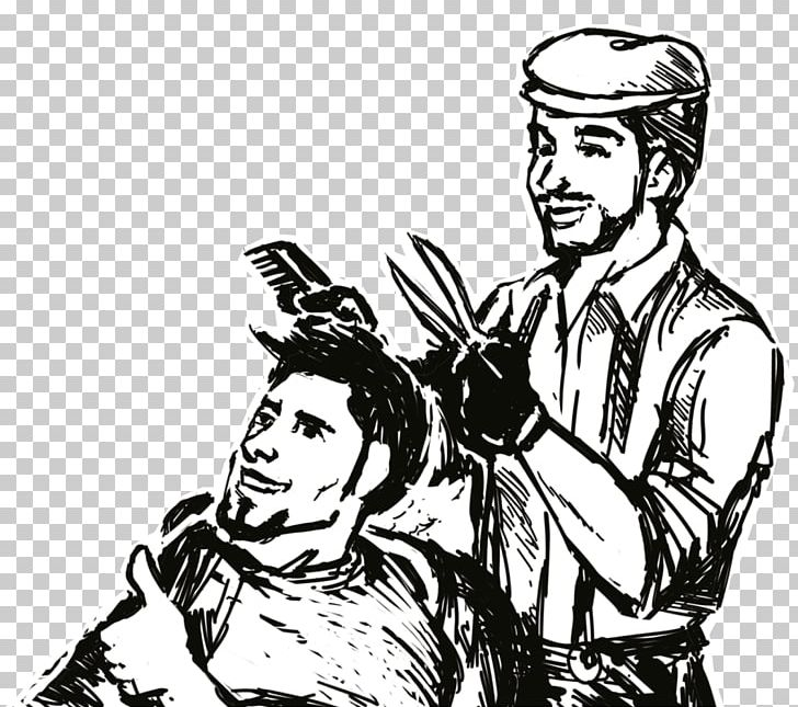 Barber Black And White Photography PNG, Clipart, Arm, Art.