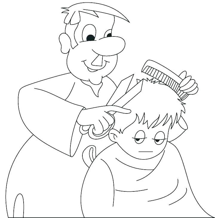 Barber clipart community helper, Barber community helper.