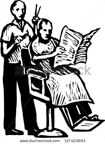 Barber clipart black and white 7 » Clipart Station.