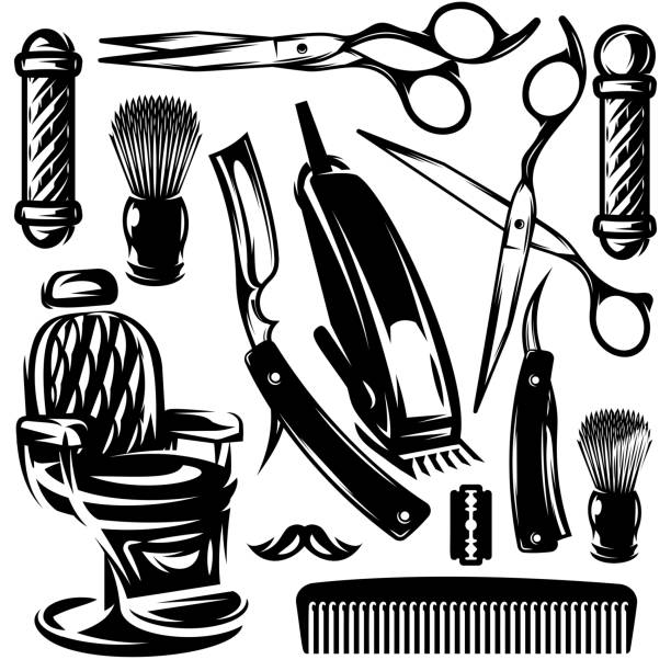 Best Barber Clippers Illustrations, Royalty.