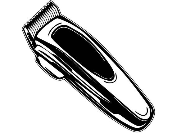 Clippers Barber Tools Shaves Cuchilla Scissors Stripes Barbershop .SVG .EPS  .PNG Vector Space Clipart Digital Download Circuit Cut Cutting.