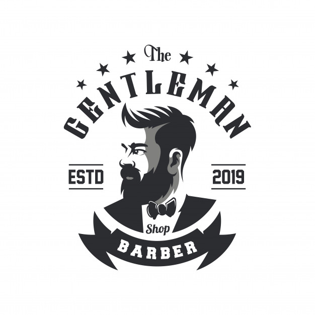 Awesome barbershop logo design vector Vector.