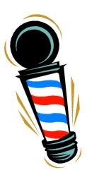Barber shop pole clipart.