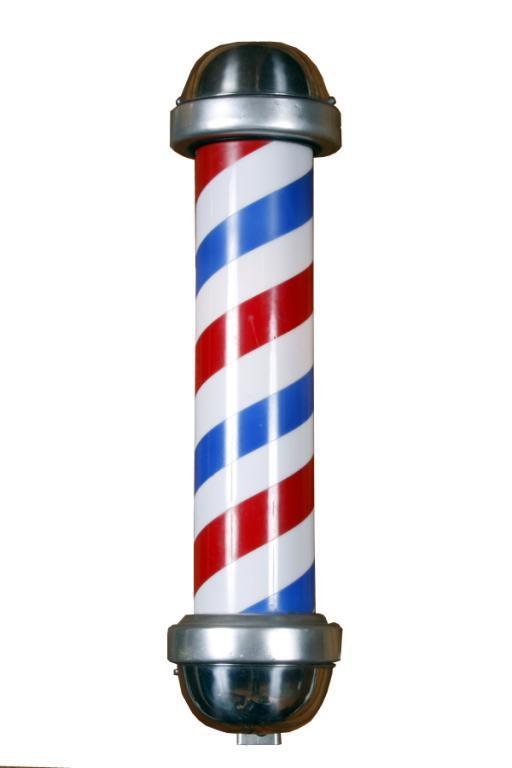 Image of Barber Pole Clipart #4034, Pole Barber Shop.